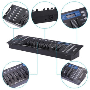 DJ Disco Operator Equipment LIXADA 192 Channels DMX512 Controller Console for Stage Light Party