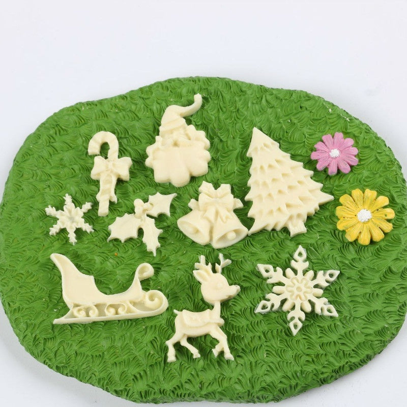 1PCS Christmas Tree Santa Claus Mold DIY Silicone Fondant Baking Decoration Tool Chocolate Mold Silicone Mold