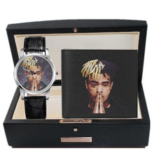 Load image into Gallery viewer, 2018 New Xxxtentacion Commemorative Watch Mens and Womens Imitation Leather Quartz Watch Wallet