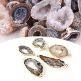 1pc NEW Mini Agate Geodes Collection Raw Stones Slice Natural Crystals Halves Healing (Two Sizes:0.39 -1.38 /0.98 -1.97 )