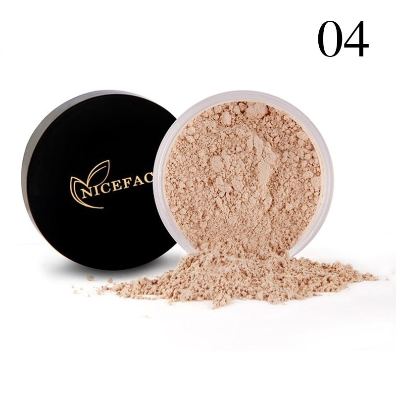 Face Foundation Powder Oil Control Lightweight Long Lasting Loose Powder White Translucent Mineral Finish Setting Makeup Powder
