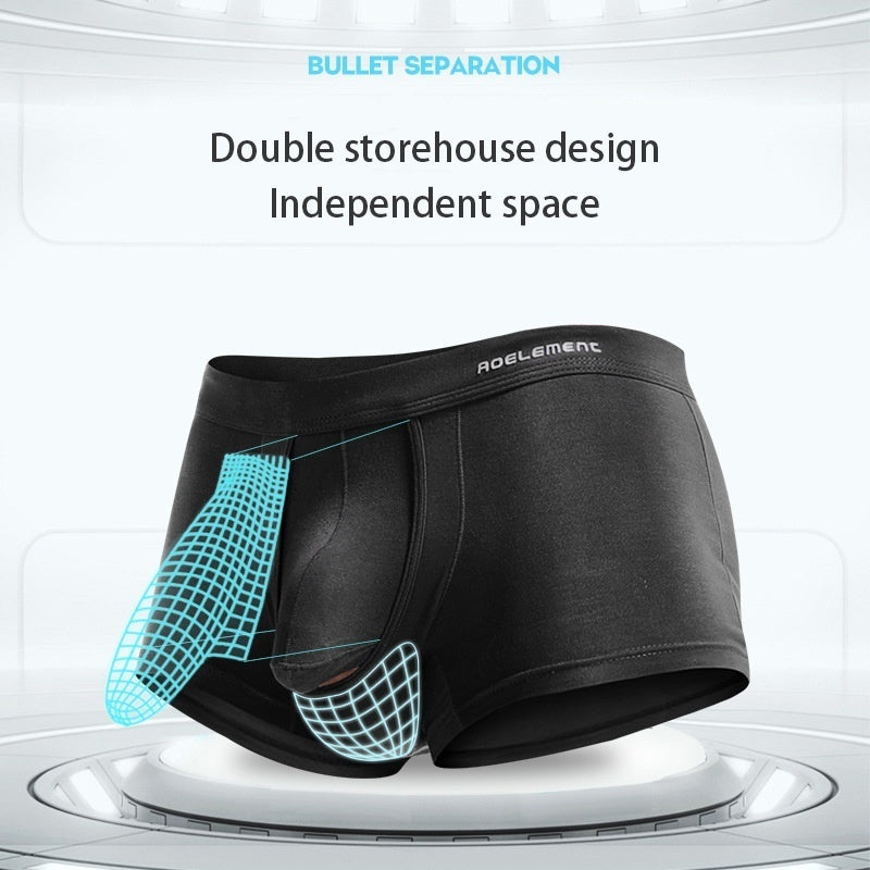 Youth U Convex Breathe Freely Modal Boxer Elephant Nose Men's Underwear Bullet Separation Scrotum Physiological Underpants