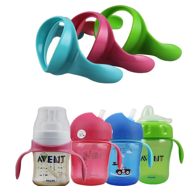 2 Pieces/lot Safe Milk Cup Grip Suitr Bottles Accessories Natural Avent For Baby Wide Neck Feeding Bottle Handles