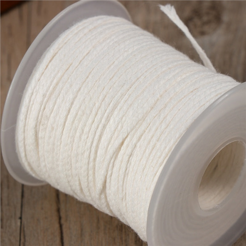 1 Roll 200 Feet Braided Wick Candle Wick Spool for DIY Candle Making