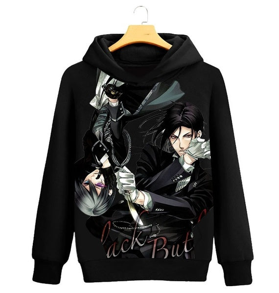 Anime Black Butler Hoodie Fashion Hoodies Sweatshirts Long Sleeve Autumn Winter Clothing
