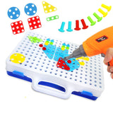 Toys Electric Drill  Tool Educational Toys Assembled Blocks Sets Toys for Boys Design Building Toy