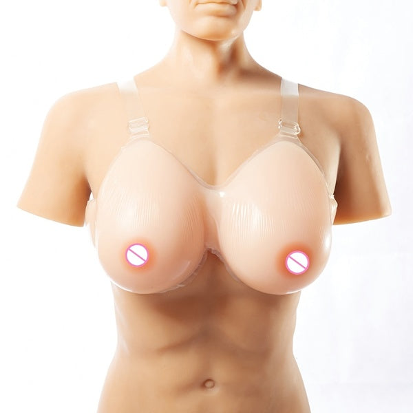 Silicone Breasts Forms Fake Boobs for Transvestite Drag Queen with Strapon Crossdresser Fake Tits