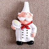 1Pc 3D Resin Chef Cook Bread Refrigerator Magnet Fridge Home Kitchen Decoration Accessories Travel Souvenir Gift KJS