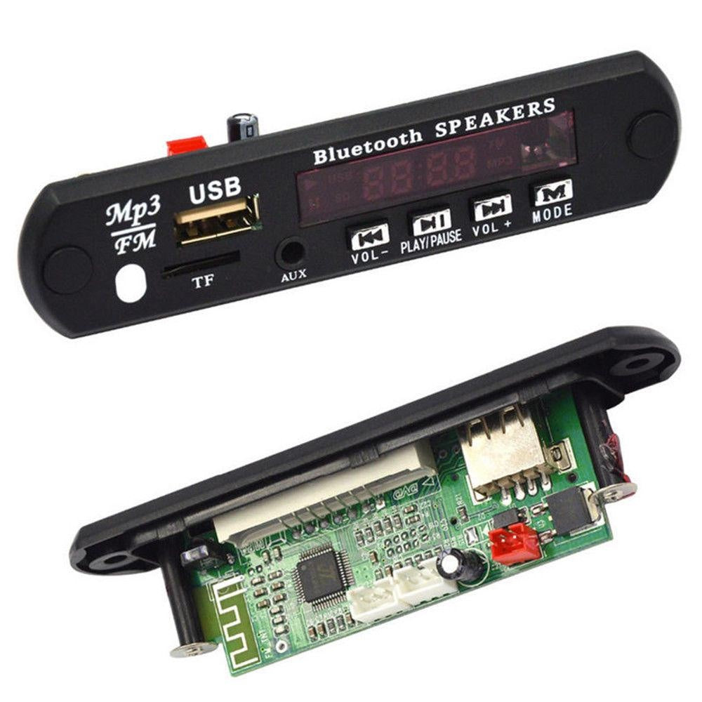 12V Bluetooth MP3 WMA FM AUX Decoder Board Audio Module TF SD Card USB Radio