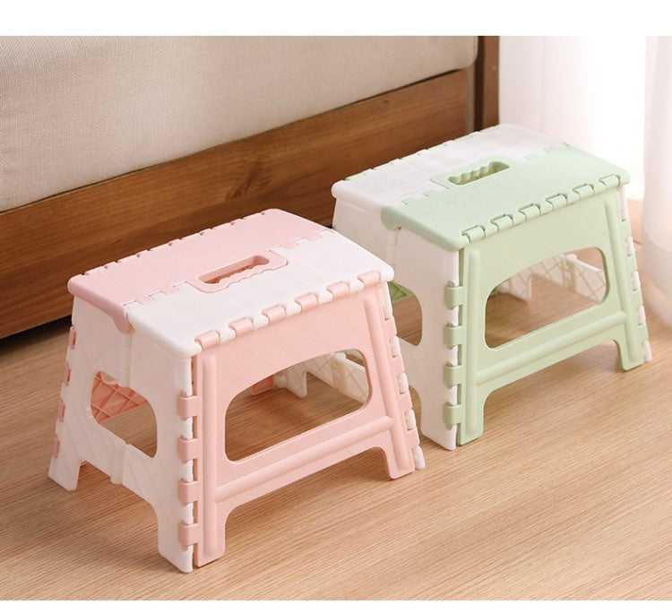 Plastic Multi Purpose Folding Step Stool Home Train Outdoor Storage Foldable