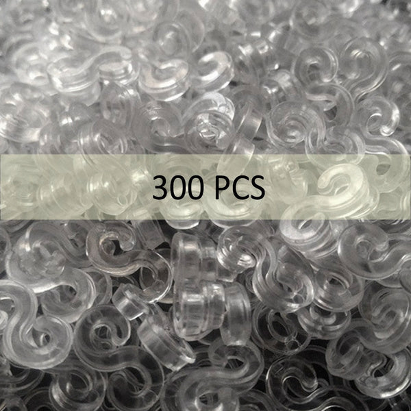 S Clip 300 Pcs for Loom Rubber Band for DIY Bracelet Making Refill Kit