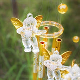 Cupid angel Wind Bell Guar-dian Angel Metal Aluminum Tubes Bell Wind Chime  Home Garden Decoration Gift