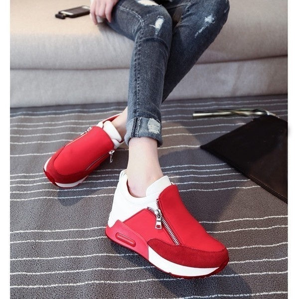 Women Platform Shoes Creepers Slip on Ankle Boots Fashion Flats Casual Shoes