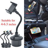 1Pc Universal Car Mount Adjustable Cup Holder Stand Cradle For Mobile Cell Phones