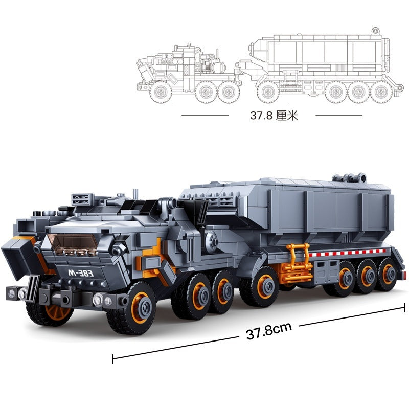 832pcs Heavy Transport Vehicle Truck Building Blocks Toy Educational Children Gifts Compatibie Legoings