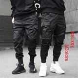 Black Cargo Pants Men Harem Pants Street Fashion Hip Hop Elastic Feet Joggers Harajuku Sweatpant Comfort Trousersa ,3 Colors