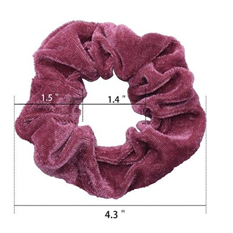 26 Colors Vintage Hair Rope Velvet Large Intestine Shape Elastic Hair Bands Women's Simple Solid Color Hair Headband