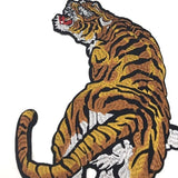 3D Tiger Clothing Patch Heat Transfer Sticker Iron-on Appliques DIY Embroidered Iron on Patch for Clothes Appliques Printing Decor