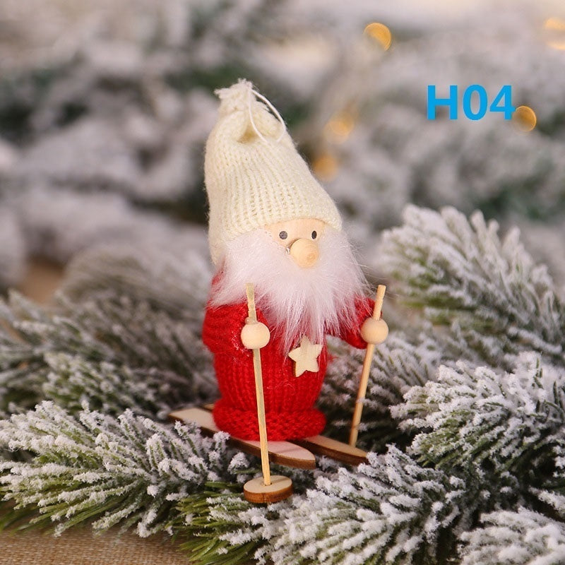 Christmas Cute Angel Girl Ski Doll Ornaments Christmas Tree Decorations Hanging Pendant Home Party Xmas Decor Kids Gift