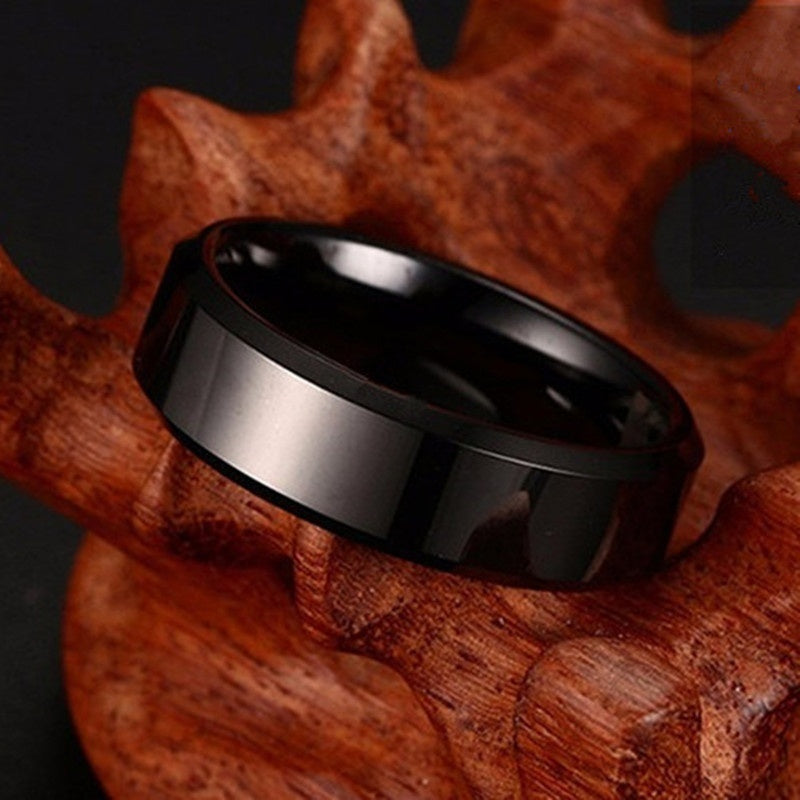3 Pcs . high quality Titanium Stainless steel rings black for Men colors:black gold silver Color US Color Sizes 5-13