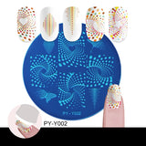 PICT YOU Tropical Geometric Collection Nail Stamping Plates Nail Image Stamp Stencils