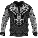 2019 New Men Viking 3D Printing Pullover Hoodies