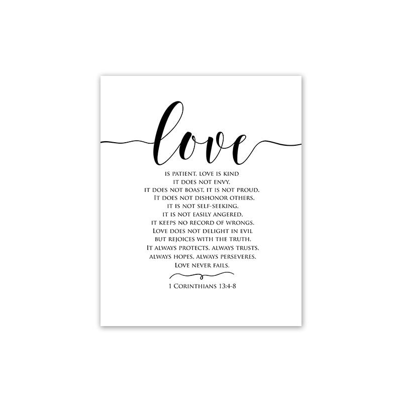 NO frame )Scandinavian Style Love Poster Black and White Canvas Painting  Wall Pictures For Living Room Nordic Decoration Home Art