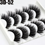 5 Pairs 3D Mink Lashes More Longer More Volume Natural Multilayer False Eyelashes Eye Makeup Beauty Extension Tools