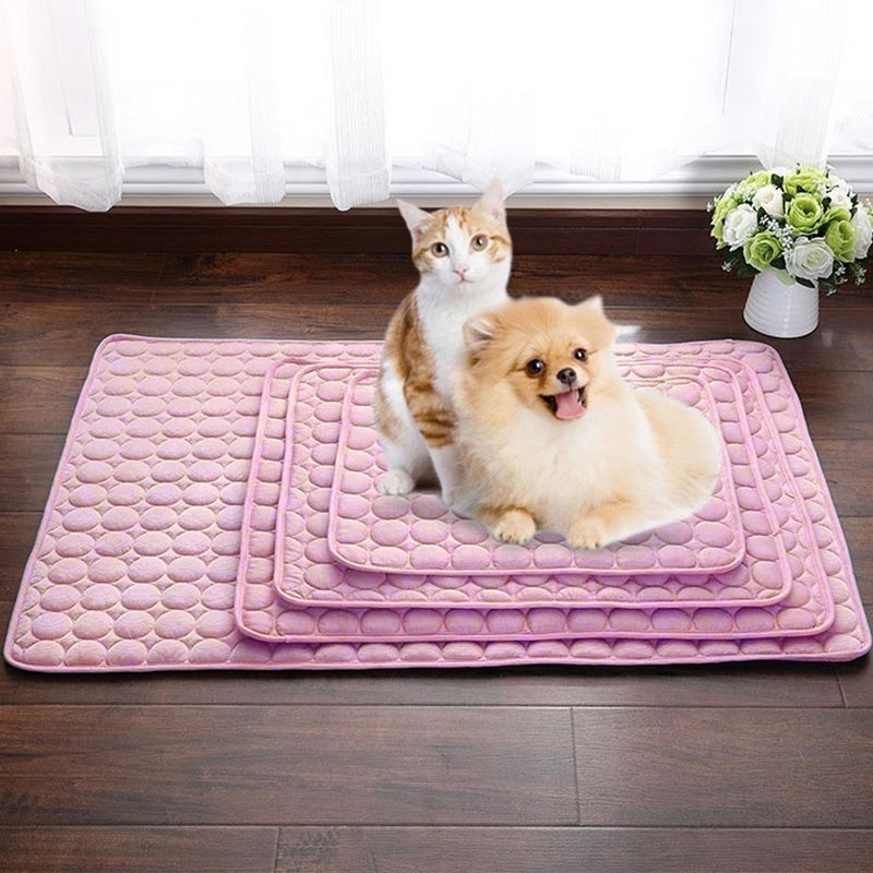 NEW Soft&Warm Pet Cotton Summer Cooling Mats Blanket Pet Mat Cool Pad Cushion Heat Relief Dog Sleeping Cushion Mats(4 Colors For Choose)