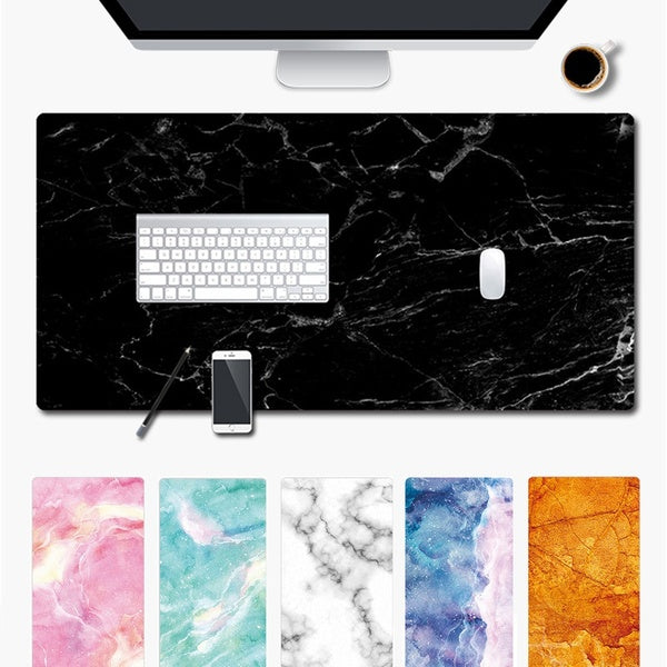 Large Marble Grain Mouse Pad Office Computer Desk Mat Modern Table Game Keyboard Laptop Cushion Soft Game Rubber Marble Grain Large Keyboard Computer Desk Mat Laptop Cushion Mouse Pad