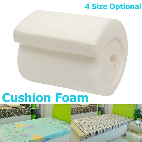 4 Size Optional High Density Seat Foam Rubber Cushion Replacement Upholstery Firm Pad Home Decor