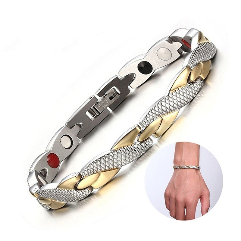 2019 Fashion Twisted Healthy Magnetic Bracelet for Women Power Therapy Magnets Bracelets Bangles Men