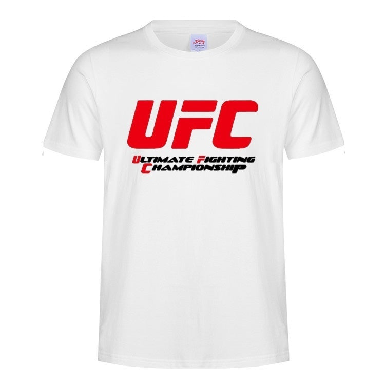 Men's T-Shirt UFC T Shirt Gym Training Fighter Fit Training MMA Muscle Box Workout Casual Cotton T-shirts
