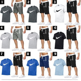 Two-piece Men's Fashion Sports Suit Outdoor Casual Breathable Comfortable Short-sleeved Shorts