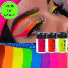Load image into Gallery viewer, 12 Colors Neon Powder Eyeshadow Pigment Matte Mineral Nail Powder Cosmetics Make Up Shimmer Shining Eye Shadow