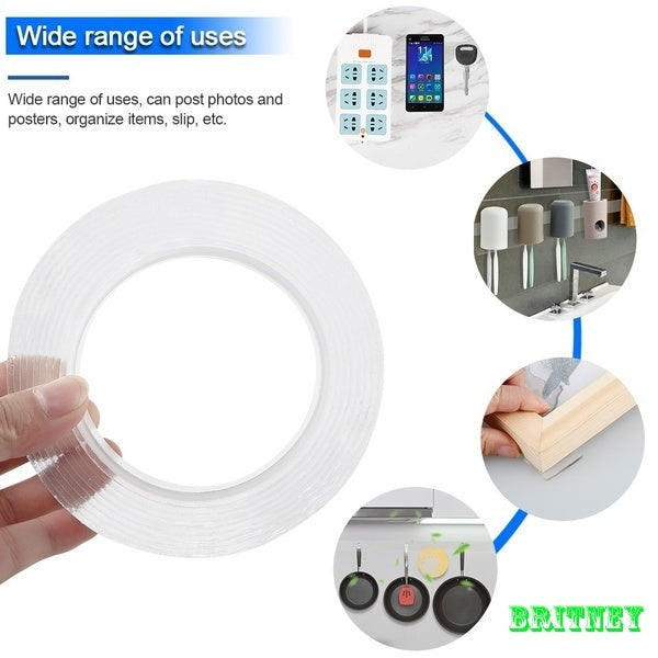 1/2/3/5m Multi-function Seamless Transparent Double-sided Adhesive Nano-gel Acrylic Foam Tape