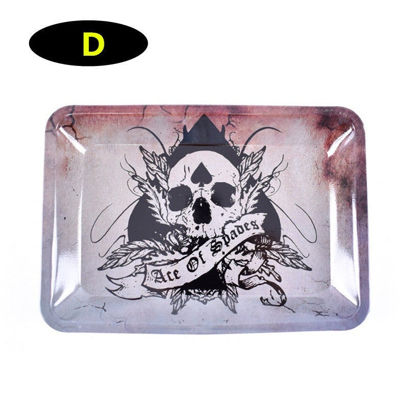 Tinplate Cigarette Tray 180*125mm with Fruit Flavored Rolling Paper 78mm Smoking Accessories