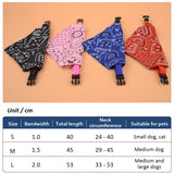 Pet Polyester Printed Triangle Scarf Collar for Dog Cat Puppies Retractable Collar Bandana Triangle Bib Scarfs Neckerchief