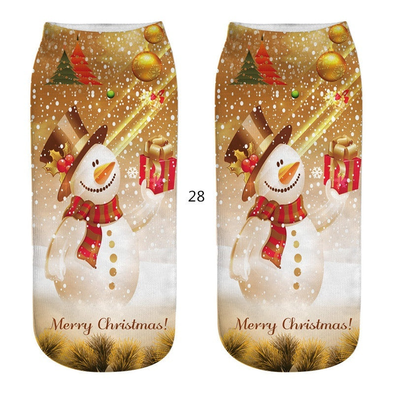 Christmas 3D Cartoon Cotton Socks