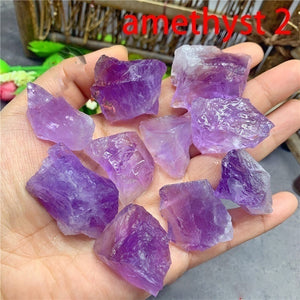 Natural Rare Obsidian Amethyst Lapis Lazuli Black Tourmaline Amazonite Colorful Fluorite Aromatherapy Raw Gemstone Mineral Specimen Irregular Crystal Reiki Healing Advanced Collection Eliminate Magnetism