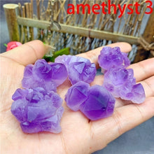Load image into Gallery viewer, Natural Rare Obsidian Amethyst Lapis Lazuli Black Tourmaline Amazonite Colorful Fluorite Aromatherapy Raw Gemstone Mineral Specimen Irregular Crystal Reiki Healing Advanced Collection Eliminate Magnetism