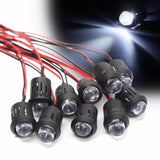 5/10/20PCS New 12V 10mm Waterproof Pre-Wired Constant LED Ultra Bright Water Transparent Bulb