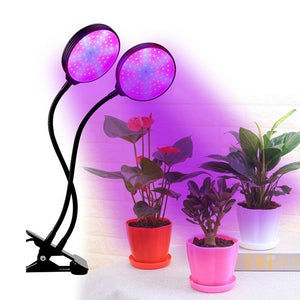 Single/Dual/Trip Head LED Grow Light-Plant Light with Lamp Holder Clip  3 Automatic Timing  30W Growing Lamps Bulbs Super Bright for Indoor Plants Growth