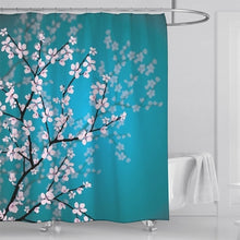 Load image into Gallery viewer, Custom Chinese Plum Blossom Art Print Waterproof Shower Curtain 3-Piece Toilet Cover Mat Floor Rugs 1pc Door Mat Home Bathroom Decoration