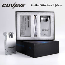 Load image into Gallery viewer, CUVAVE 2.4G 105dB Wireless Guitar System Transmitter & Receiver Built-in Rechargeable Lithium Battery 30M Transmission Range for Electric Guitar Bass Amplifier Bateria Mixer Saxophone Piano Keys Keyboard