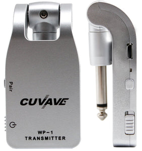 CUVAVE 2.4G 105dB Wireless Guitar System Transmitter & Receiver Built-in Rechargeable Lithium Battery 30M Transmission Range for Electric Guitar Bass Amplifier Bateria Mixer Saxophone Piano Keys Keyboard