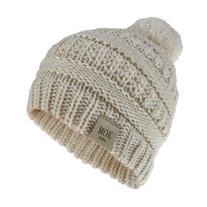 Girls Boys Child Hat Keep Warm Winter Casual Knitted Hat Wool Hairball Ski Hat
