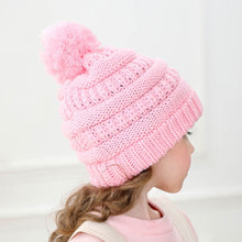 Load image into Gallery viewer, Girls Boys Child Hat Keep Warm Winter Casual Knitted Hat Wool Hairball Ski Hat