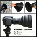 Foldable Lens Hood Take Reflection-Free Collapsible Silicone for photographers Camera Accessories