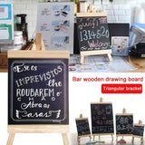 Wooden Desktop Blackboard Easel Small Blackboard Multifunctional Chalkboard Wedding Memo Writing Boards
